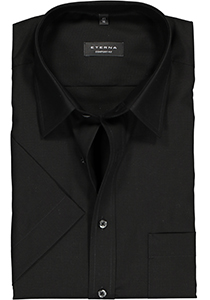 Eterna Comfort Fit overhemd, korte mouw, zwart