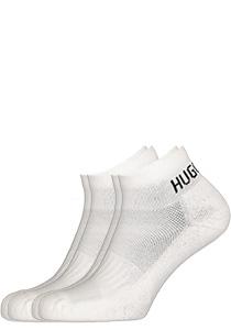 Hugo Boss Logo Sportsokken, witte enkelsokken 2-pack