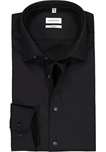 Seidensticker Shaped Fit overhemd, zwart