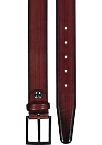 Leren heren riem, bordeaux business-casual