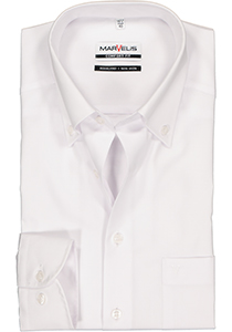 MARVELIS Comfort Fit overhemd, wit  (Button Down)