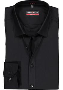 MARVELIS Body Fit overhemd, mouwlengte 7, zwart