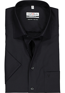 MARVELIS Comfort Fit, overhemd korte mouw, zwart