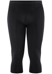 Falke maximum warm, thermo broek 3/4, zwart