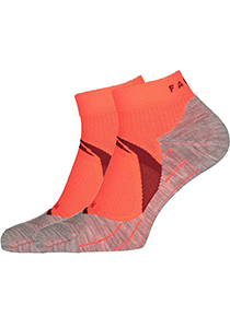 RU4 Cool Short Dames Hardloopsokken, oranje-mix