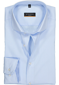 Eterna Slim Fit overhemd, lichtblauw (stretch)