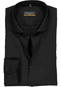 Eterna Slim Fit overhemd, zwart (stretch)