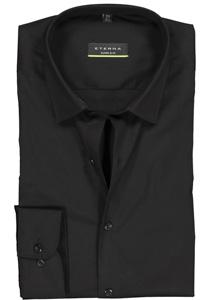 Eterna, Super Slim Fit overhemd, zwart (stretch)