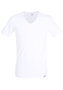 Gotzburg heren T-shirt Slim Fit V-hals 95/5 (1-pack), wit