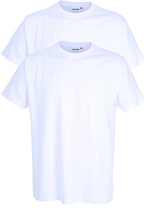 Gotzburg heren T-shirts Regular Fit O-hals (2-pack), wit