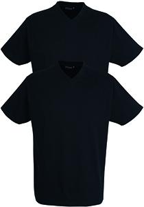 Gotzburg heren T-shirts Regular Fit V-hals (2-pack), zwart