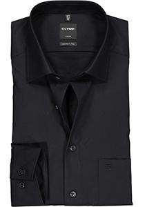 OLYMP Modern Fit overhemd, mouwlengte 7, zwart