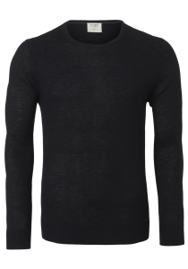 OLYMP Level 5, heren trui wol, zwart (Slim Fit)
