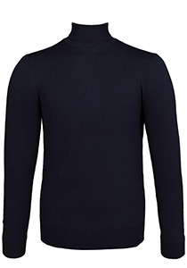 OLYMP Level 5, heren coltrui wol, navy blauw melange (Slim Fit)