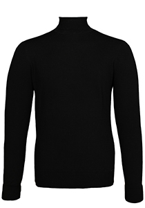 OLYMP Level 5, heren coltrui wol, zwart (Slim Fit)