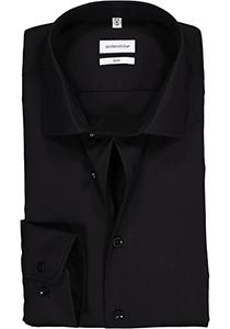 Seidensticker Slim Fit overhemd, zwart