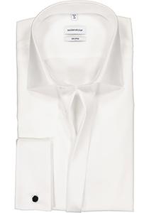 Seidensticker Shaped Fit overhemd dubbele manchet Kent kraag, wit