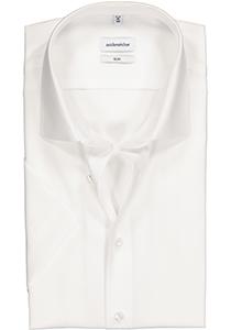 Seidensticker Slim Fit overhemd korte mouw, wit