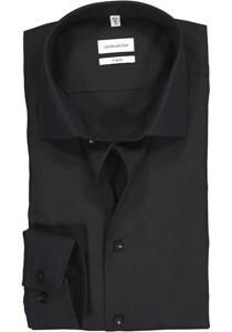 Seidensticker X-Slim overhemd, zwart
