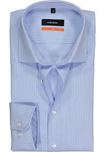 Seidensticker Slim Fit overhemd, lichtblauw geruit
