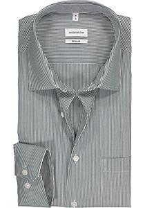 Seidensticker Regular Fit overhemd, donkerblauw gestreept