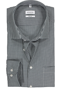 Seidensticker Regular Fit overhemd, donkerblauw geruit