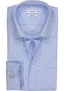 Seidensticker Regular Fit overhemd, mouwlengte 7, blauw