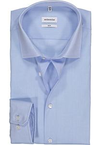 Seidensticker Slim overhemd, mouwlengte 7, lichtblauw