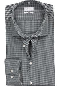 Seidensticker Slim Fit overhemd, donkerblauw geruit