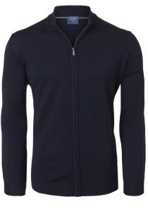 OLYMP heren vest wol, marine blauw (met rits)