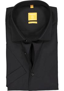 Redmond Modern Fit overhemd, korte mouw, zwart
