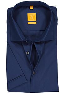 Redmond Modern Fit overhemd, korte mouw, rook blauw