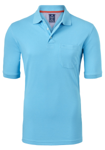 Redmond Regular Fit poloshirt, turquoise