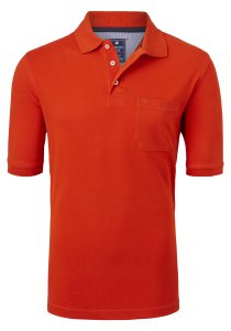 Redmond Regular Fit poloshirt, oranje-rood