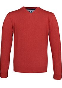 Redmond heren trui katoen, V-hals, oranje-rood