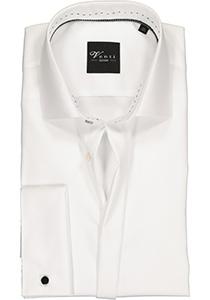 Venti Modern fit overhemd dubbele manchet, wit