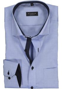 ETERNA Comfort Fit overhemd, blauw fijn Oxford (contrast)