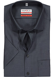 MARVELIS Modern Fit, overhemd korte mouw, antraciet