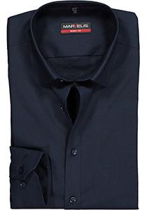 MARVELIS Body Fit overhemd, donkerblauw
