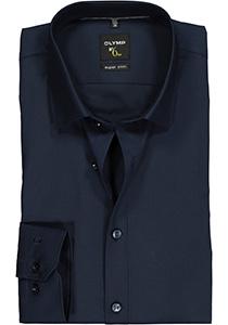 OLYMP No. 6 Six, Super Slim Fit overhemd, marine blauw
