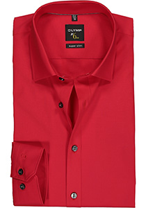 OLYMP No. 6 Six, Super Slim Fit overhemd, rood