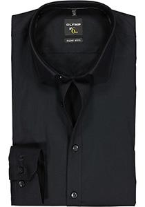OLYMP No. 6 Six, Super Slim Fit overhemd, zwart