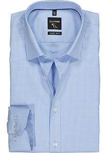 OLYMP No. 6 Six, Super Slim Fit overhemd, blauw geruit