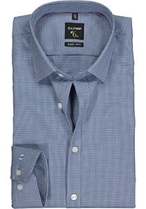 OLYMP No. 6 Six, Super Slim Fit overhemd, marine blauw geruit