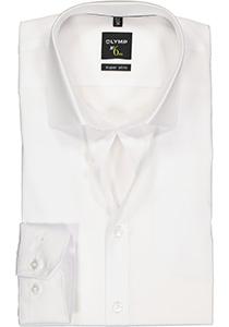 OLYMP No. 6 Six, Super Slim Fit overhemd mouwlengte 7, wit
