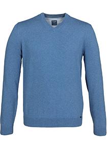 OLYMP heren trui katoen, V-hals, lichtblauw