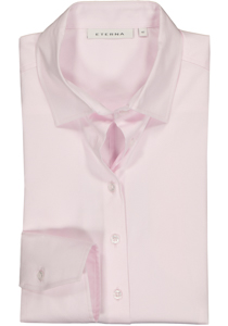 Eterna dames blouse Modern Classic stretch satijnbinding, roze