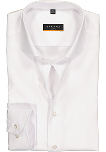 Eterna Slim Fit overhemd, super lange arm, niet doorschijnend wit twill