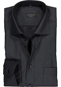 ETERNA Comfort Fit overhemd, antraciet twill structuur