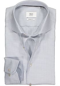 ETERNA 1863 Modern Fit overhemd, 2-ply lichtblauw structuur (premium)